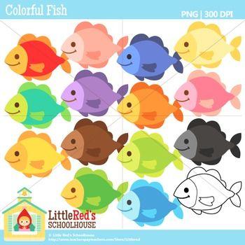 Rainbow Fish Clipart Clip Art Colorful Fish Fish Clipart