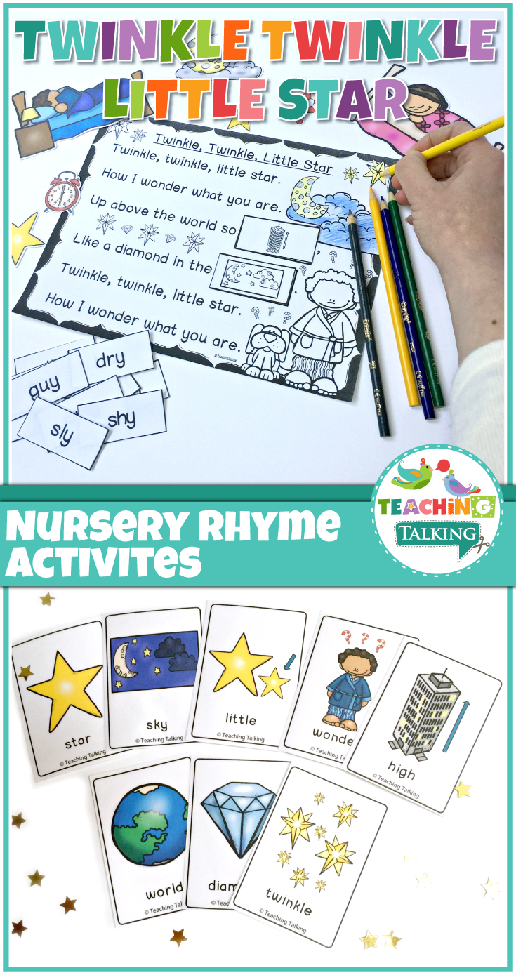 Nursery Rhymes Activities for Twinkle Twinkle Little Star | Rhyming ...