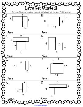 Perimeter and Area Game TpT Math Lessons t Math