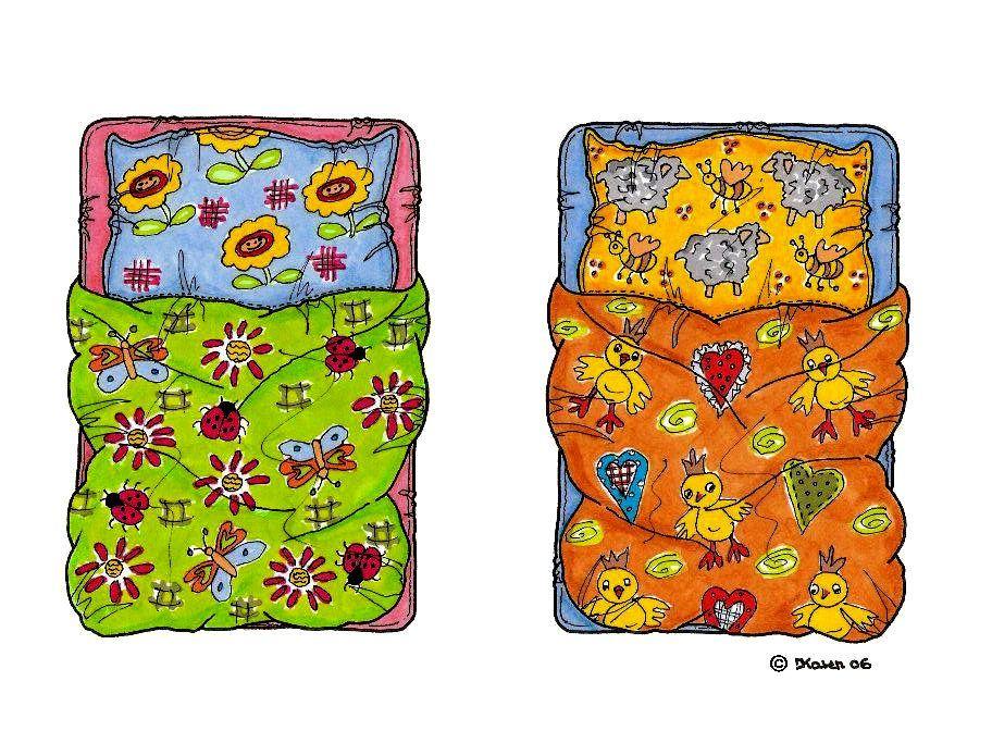 Karen`s Paper Dolls: Beds and Pools to Print in Colours. Senge og badebassiner til at printe i farver.