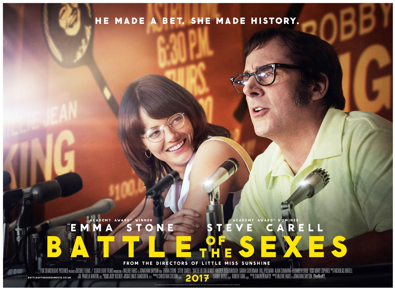 Battle Of The Sexes British Advance Quad Movie Poster 2017