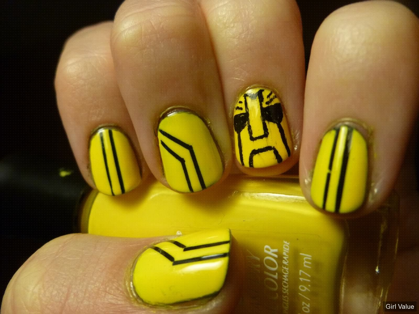 Token2361 Bumble Bee Nail Art Bumblebee Art Girl Nail