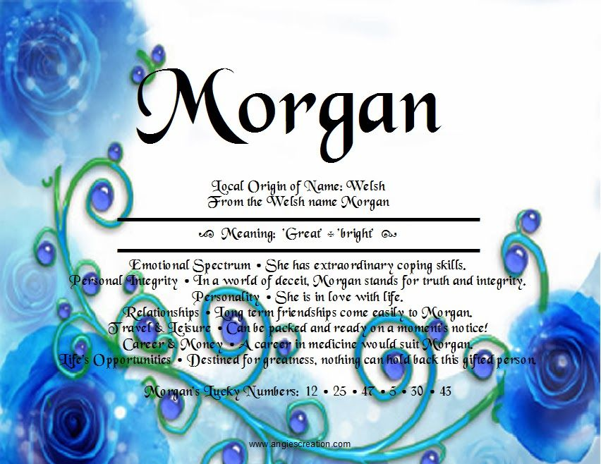 The meaning of the name morgan great bright names their the meaning of the name morgan great bright negle Choice Image