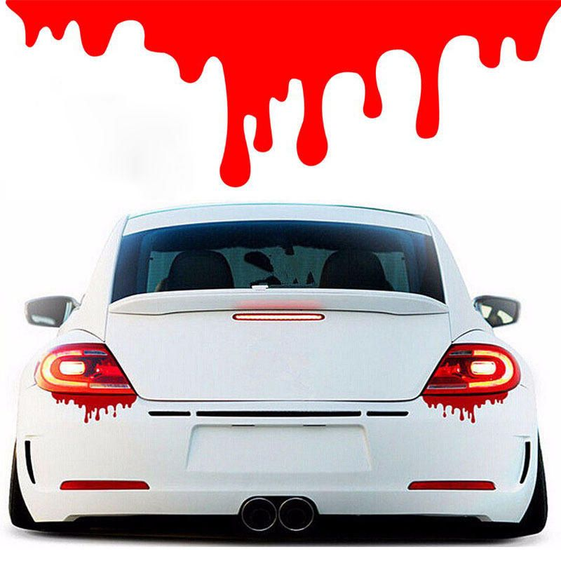 Red Blood Drips Car Sticker Decals Tail Light Window Per Funny For Auto Moto