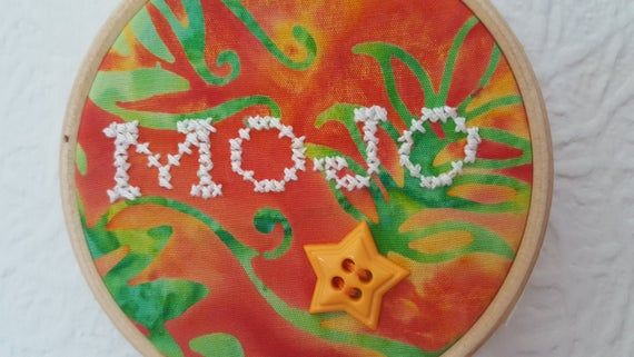 MOJO Embroidery. 3 inch Hoop Art. Cross stitch Quote. Embroidery Hoop Art. Wall Hanging. Inspirational Quote. Home Décor. Small Gift