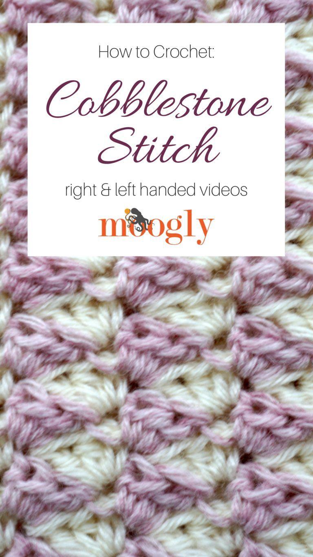 Cobblestone Stitch - Free #Crochet Video Tutorial on | Helen\'s Bake ...