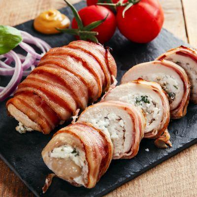 bacon dill cream cheese wraps