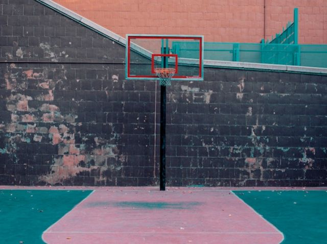 This game we play nyc basketball courts by franck bohbot for Cheapest way to make a basketball court