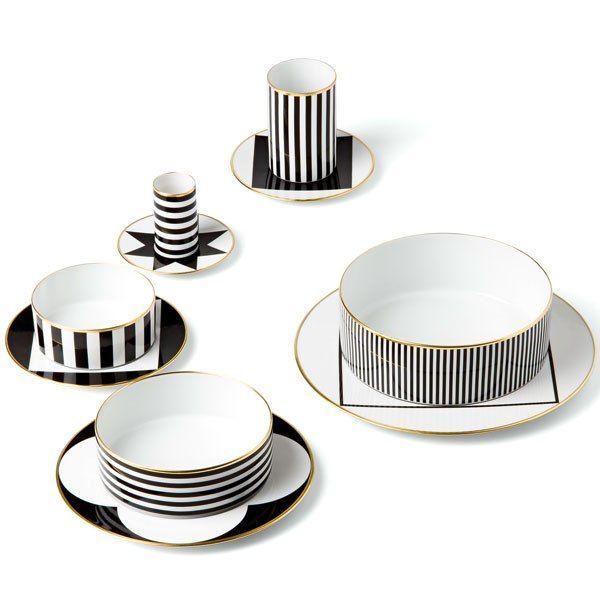 Spring Trend: Stripes: Ca' d'Oro dinnerware by Sieger
