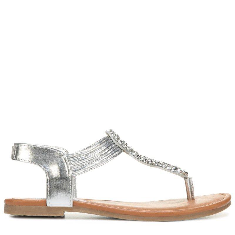 e7ce560ddca Steve Madden Kids  Jfinny Sandal Pre Grade School Sandals (Silver) - 13.0 M