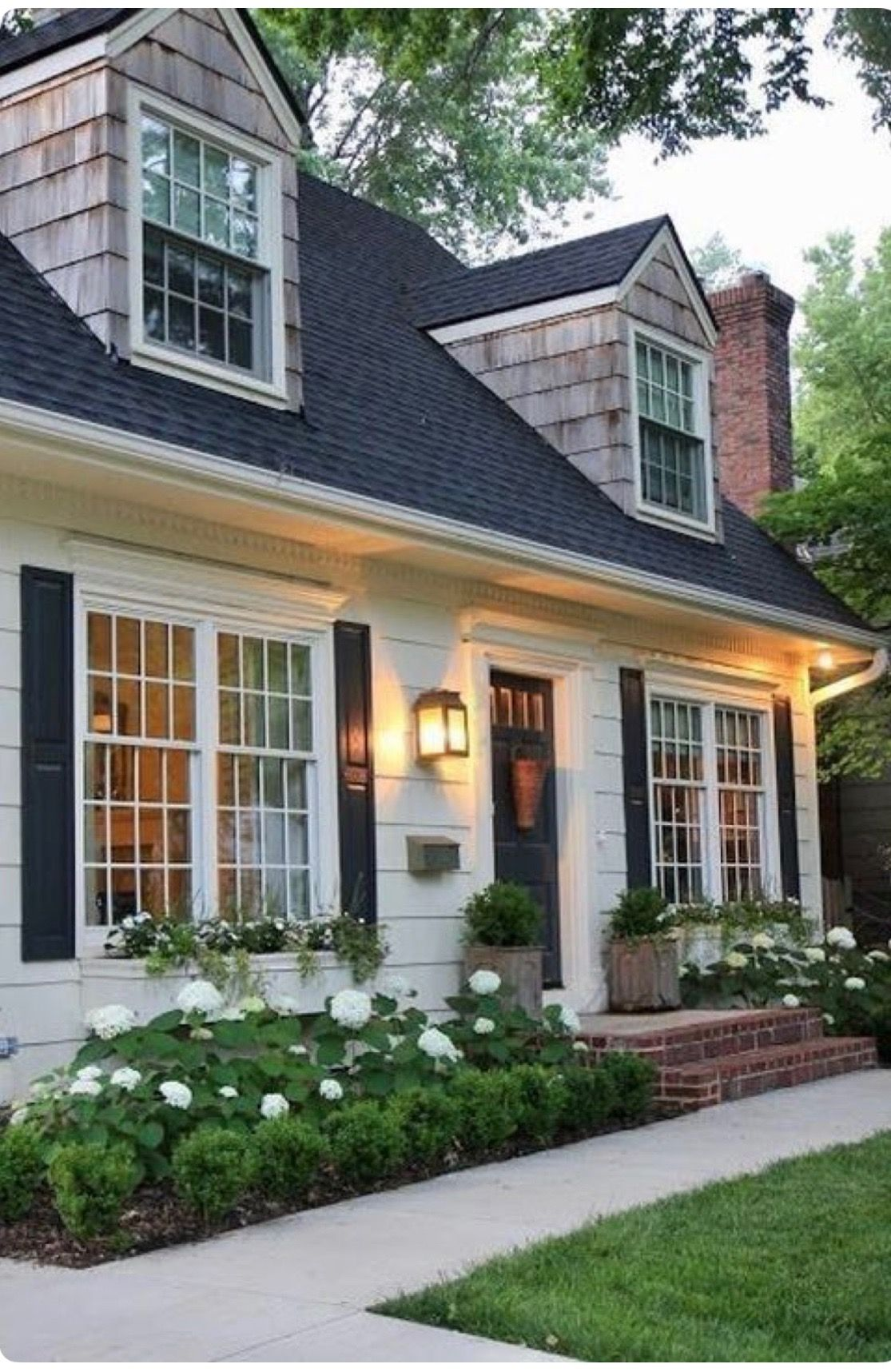 Pin by MaryO on Interior Design(33 categories) | Cottage house exterior, House  designs exterior, Cape cod house exterior