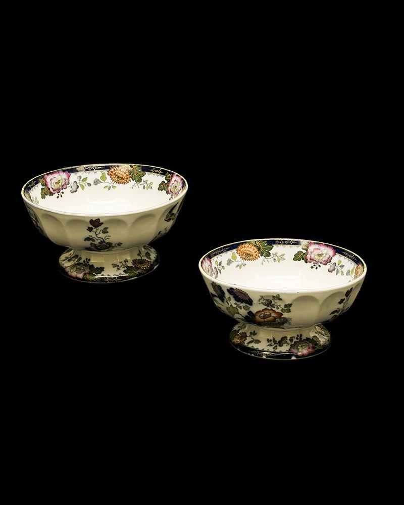 "MASON ironstone bowls in the ""Persian"" pattern, England, 19th century Height 5.25"" Diameter 10.5"""