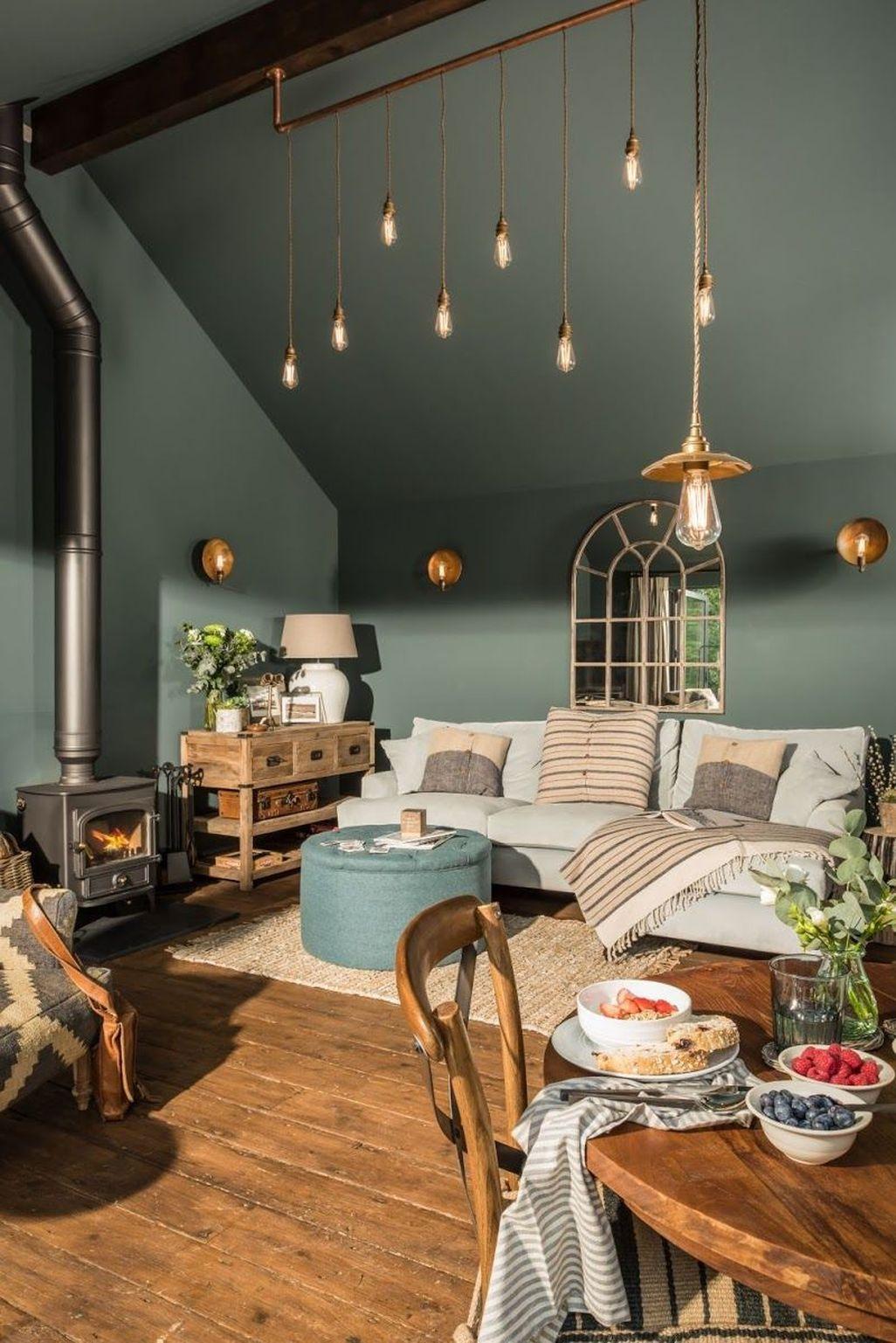 45 Cozy Green Livingroom Ideas #livingroompaintcolorideas
