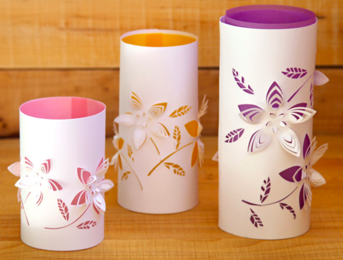 Свечи из бумаги своими руками шаблоны