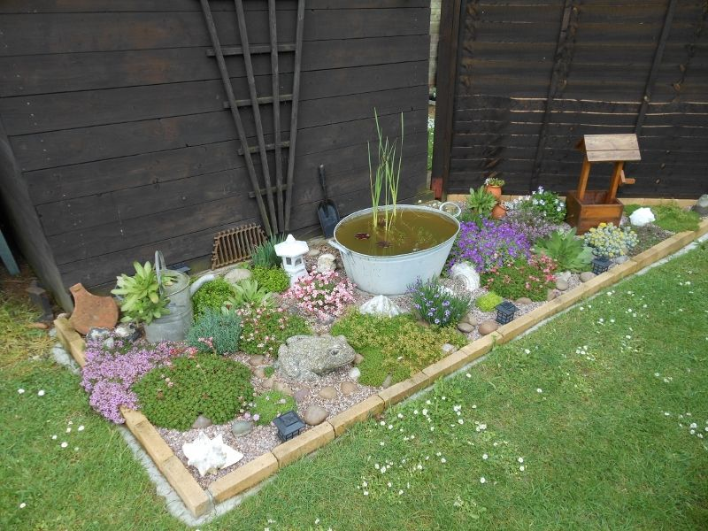 This is a rockery I designed for a small area not being ...