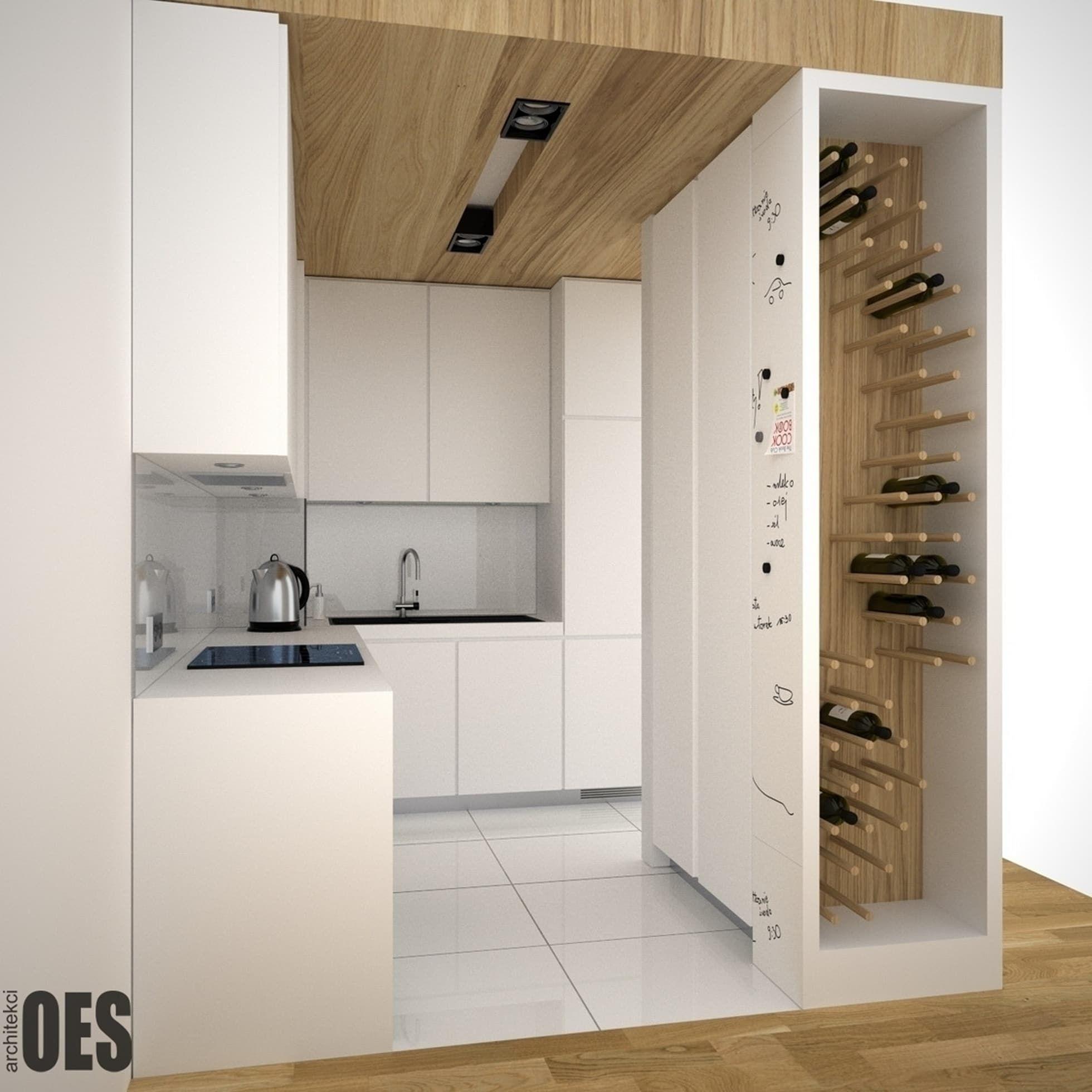 Projekt Malej Kuchni Oes Architekci Minimalistyczna Kuchnia Homify Modern Kitchen Design Kitchen Room Design Home Decor Kitchen