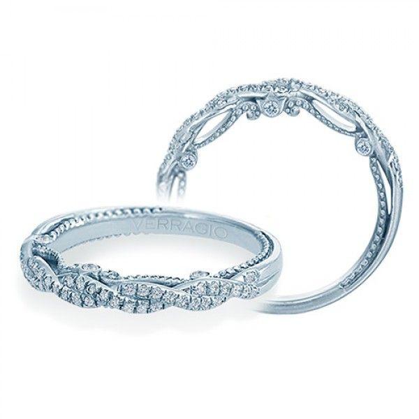 Verragio Insignia 7074w 14 Karat Wedding Ring Band Unique Diamond Rings Diamond Wedding Bands Moissanite Wedding Bands