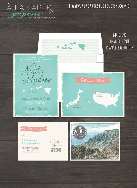 destination wedding usa japan hawaii bilingual illustrated wedding