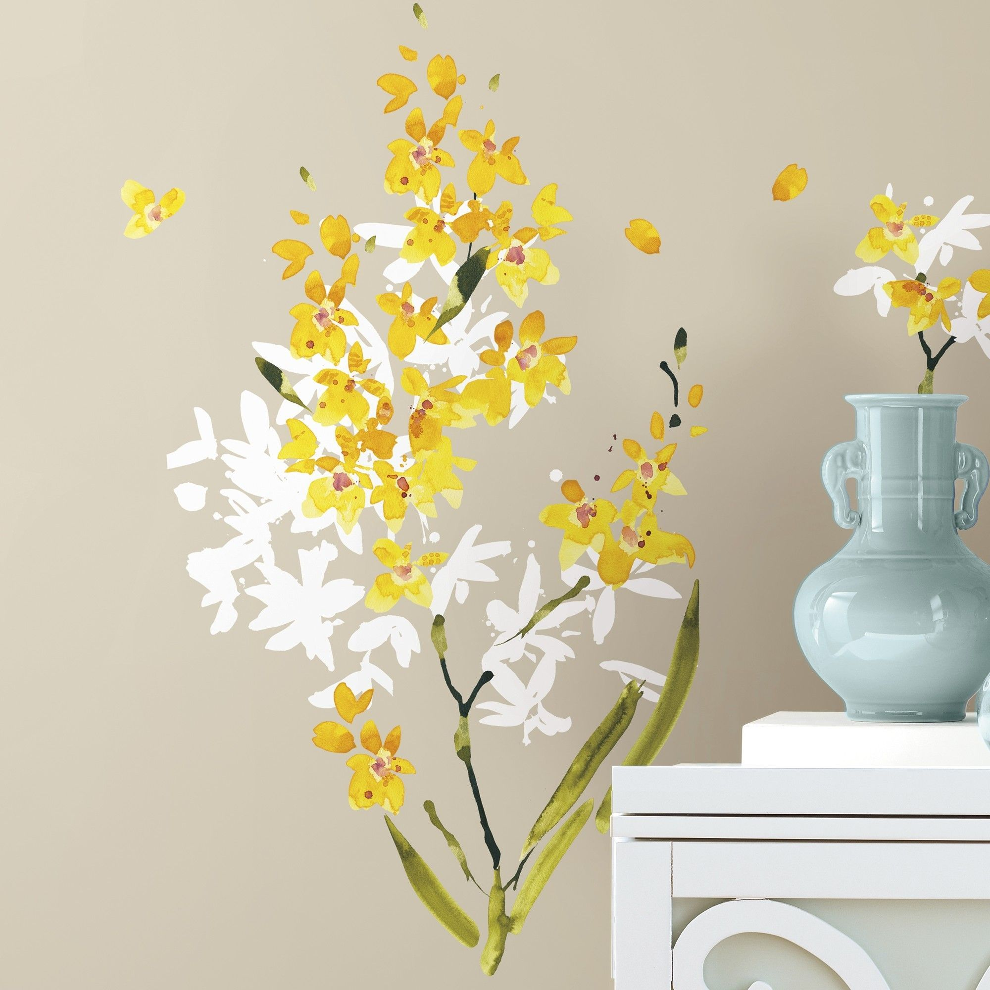 Yellow Flower Wall Decal Set | Products | Pinterest | Flower wall ...