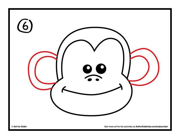 How To Draw A Monkey Art For Kids Hub Monkey Art Monkey Drawing Monkey Drawing Easy
