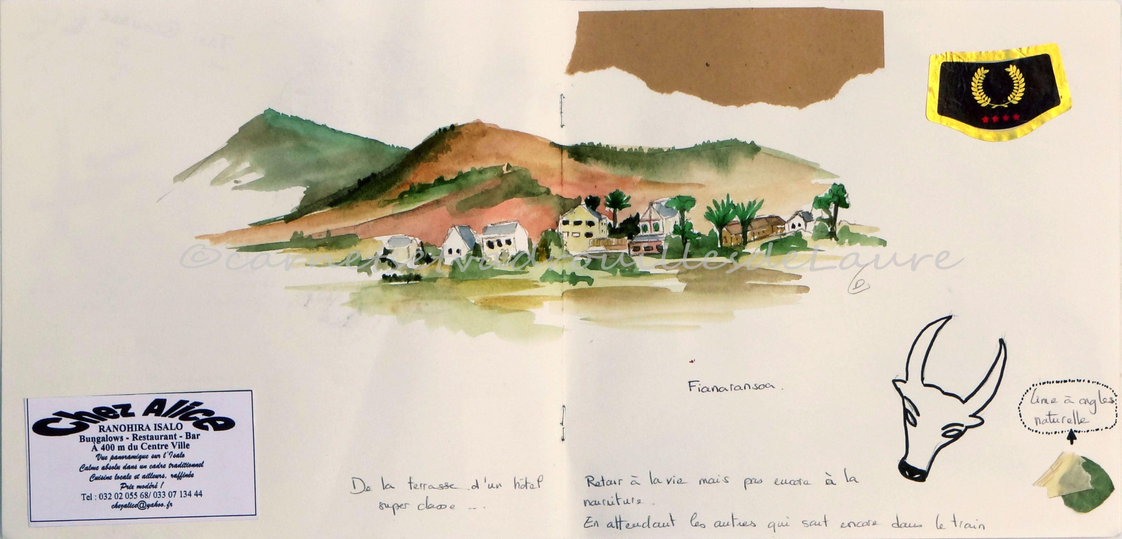 Carnet De Voyage Madagascar Page 9 Fianaranstoa Paysage