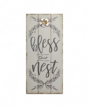 Stratton Home Decor Bless this Nest Rustic Wall Decor - Silver #homedecoritems
