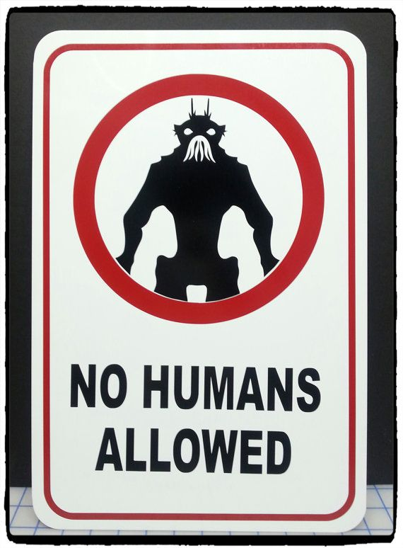 District 9 No Humans Allowed 12 X 18 Aluminum Etsy In 2020 Vinyl Graphics Aluminum Signs Districts