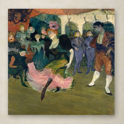 Trademark Fine Art Marcelle Lender Dancing By Henri De Toulouse Lautrec Painting Print On Wrapped Canvas Toulouse Artist Canvas Henri De Toulouse Lautrec