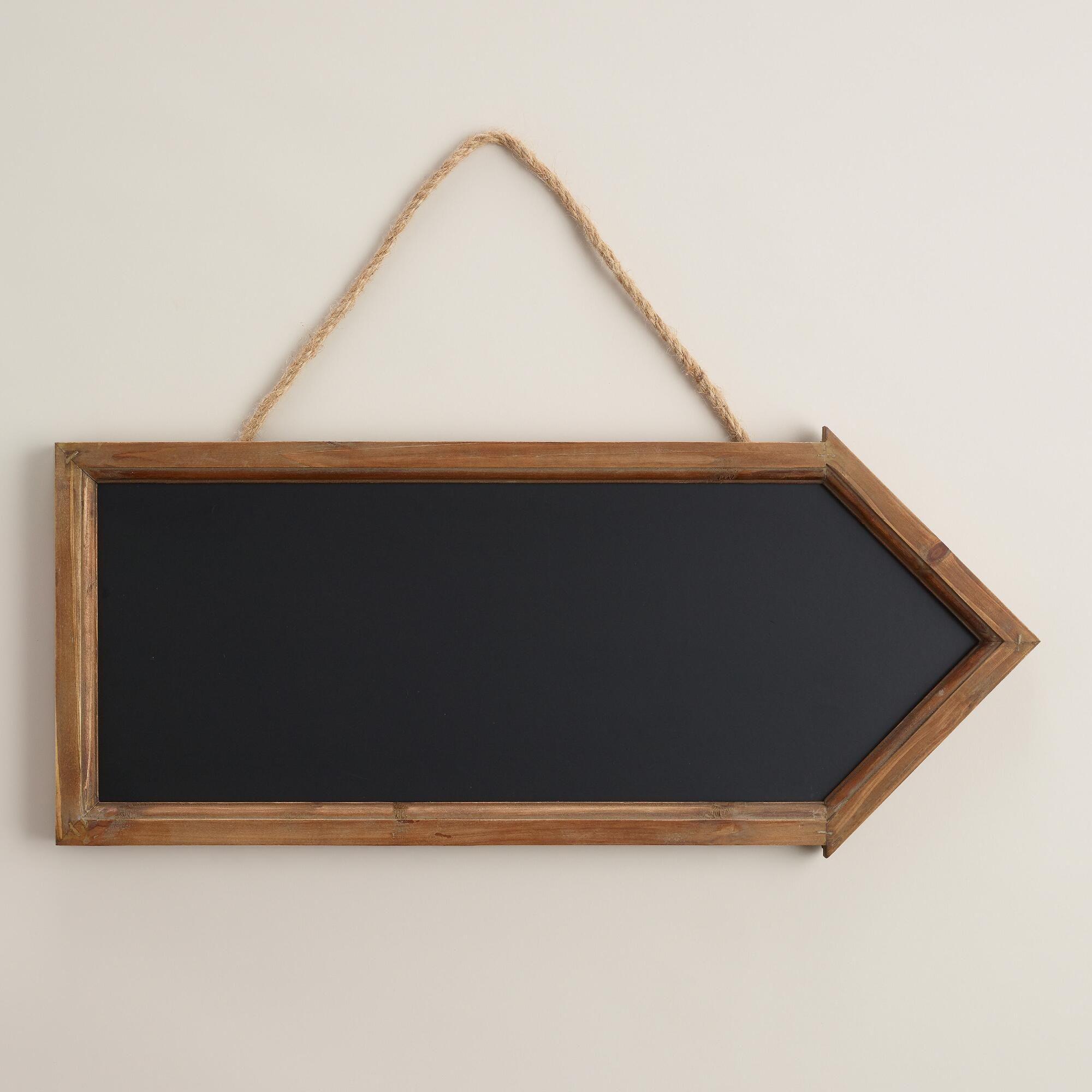 natural wood arrow chalkboard - Wood Framed Chalkboard