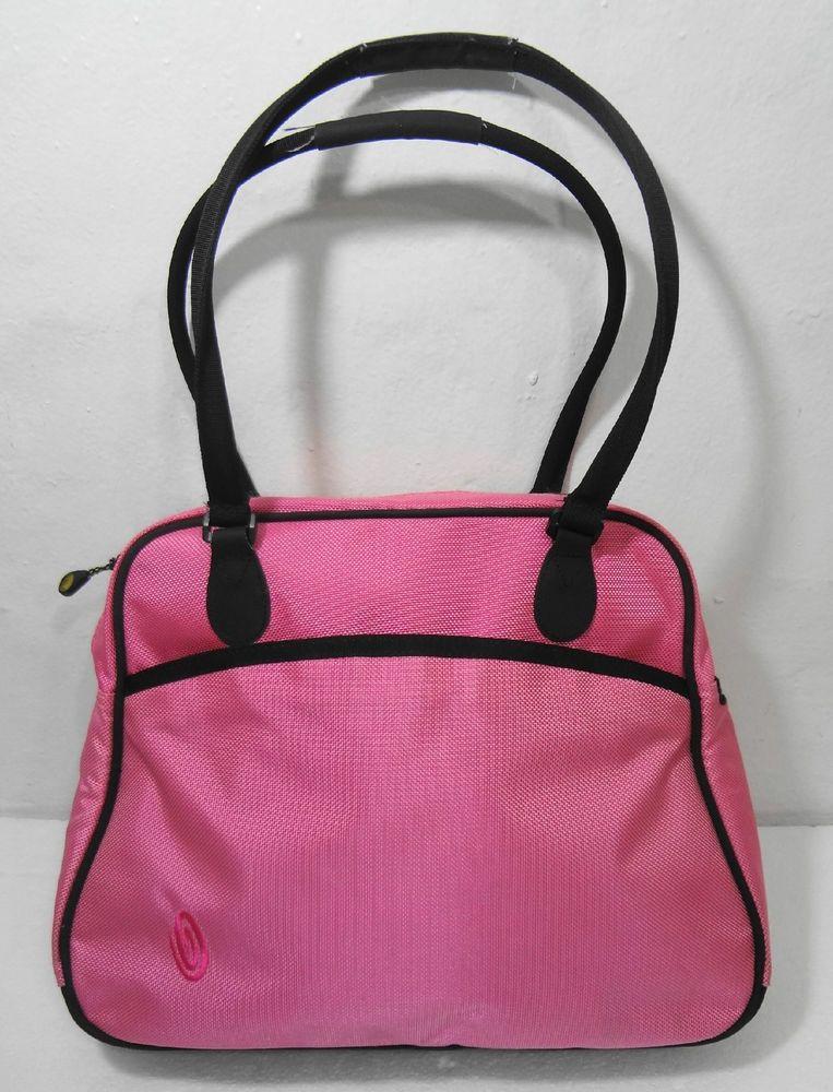 Timbuk2 Pink Ballistic Nylon Tote Bag Case Satchel Bowling Style Handbag   Timbuk2  TotesShoppers fdc3c5f2b68ff