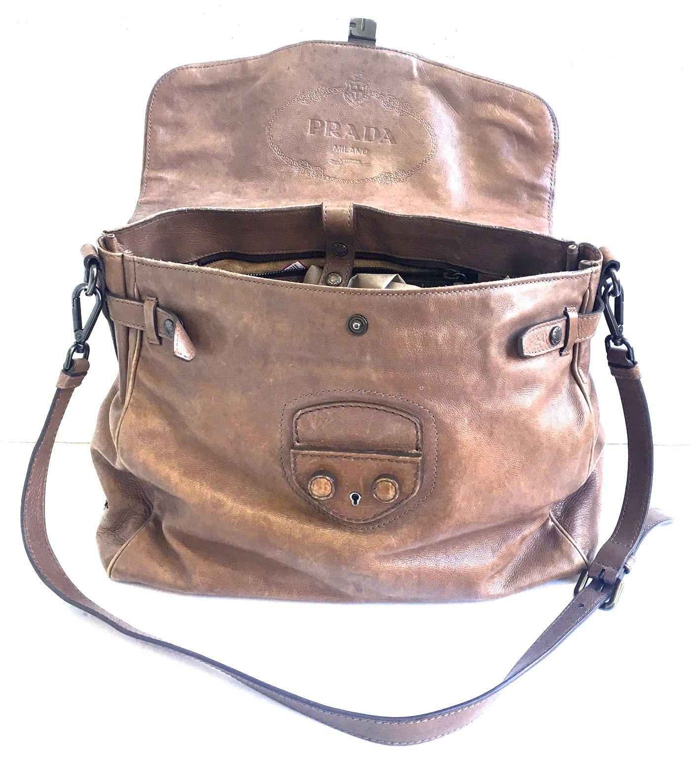 43ef204194f5 AUTH Pre-Owned PRADA Leather Unisex Messenger Handbag OUR PRICE -    750.00  Retail Price   2