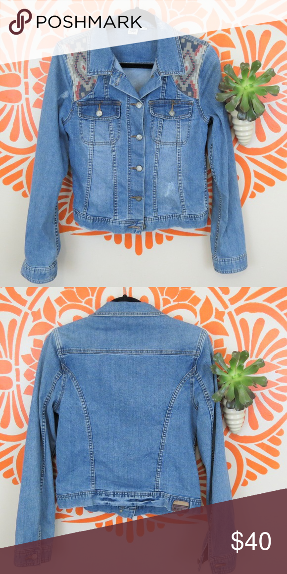 Roxy South Western Style Denim Jacket M