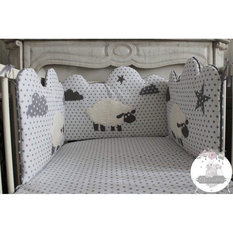 tour de lit mazarine moutons chambres b b tour de lit. Black Bedroom Furniture Sets. Home Design Ideas