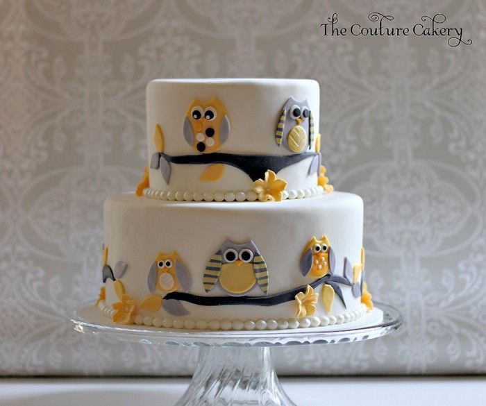 Owl Baby Shower Cakes | The Couture Cakery   Owl Baby Shower Cake