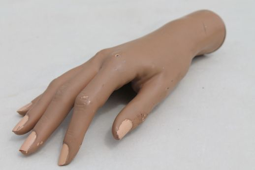 Vintage Mannequin Hand Female Model For Rings Jewelry Or Nail Polish