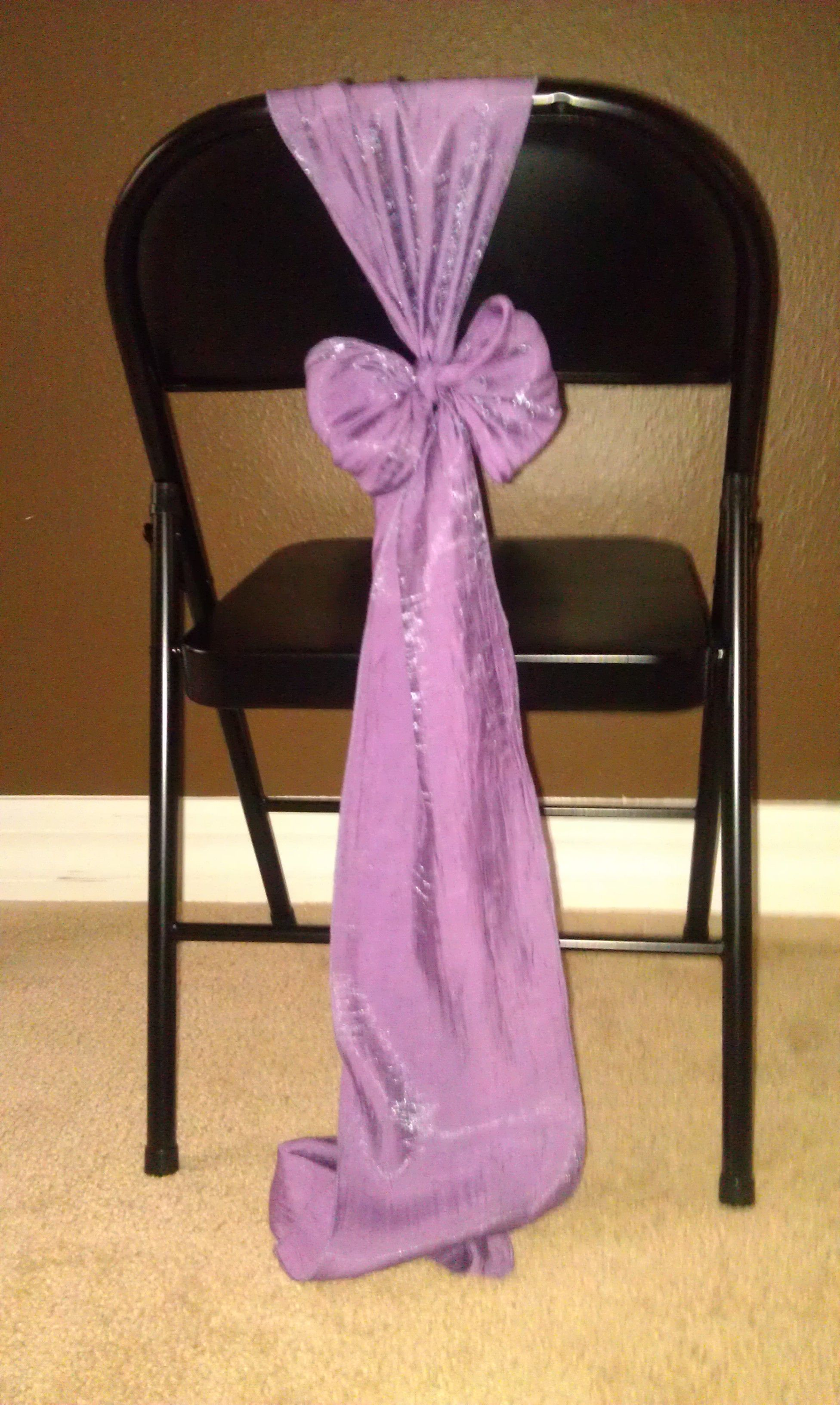 Vertical Bow For Metal Folding Chair Without A Chair Cover