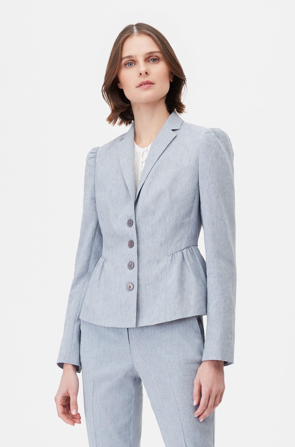 Tailored Stretch Linen Blend Jacket Rebecca Taylor Women Outerwear Jacket Jackets Rebecca Taylor [ 1849 x 1218 Pixel ]