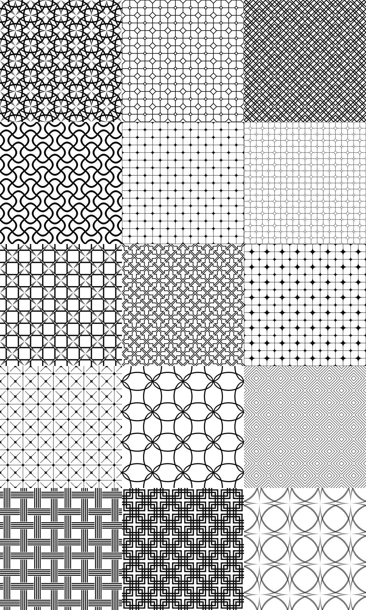 90 Vector Grid Patterns Black And White Pattern Background Collection Eps Jpg Geometric Pattern Design Monochrome Pattern Zentangle Patterns