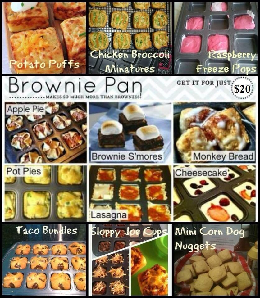Pin By Ashley Heffernan On Pampered Chef Brownie Pan In 2020