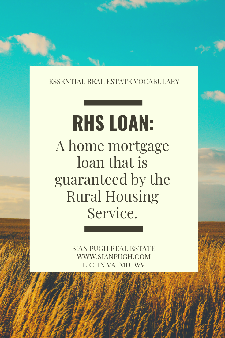 What Is A Rhs Loan Real Estate Contract Real Estate Information Real Estate