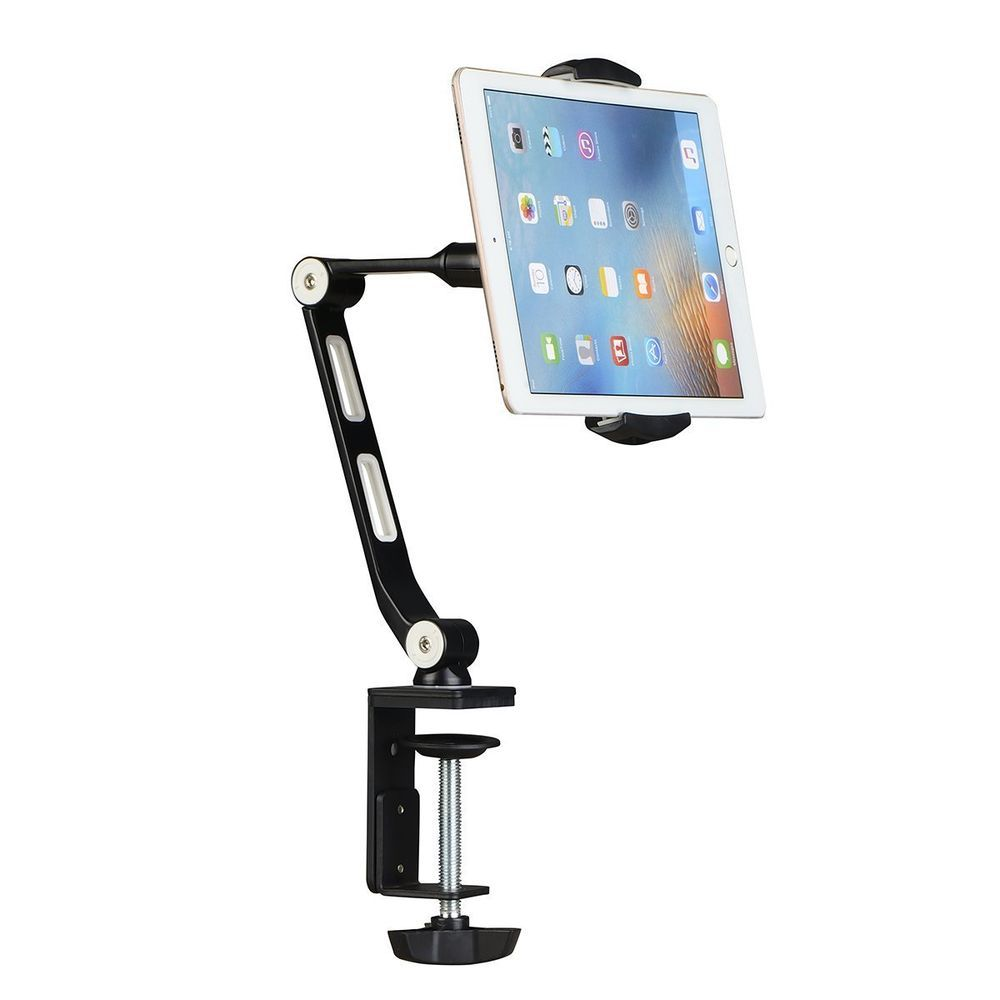 360º Turn Tablet Mount Holder Stand Ipad Pro 12 9 Surface Pro Base Long Arm Ebay Cell Phone Holder Tablet Desk Phone Holder