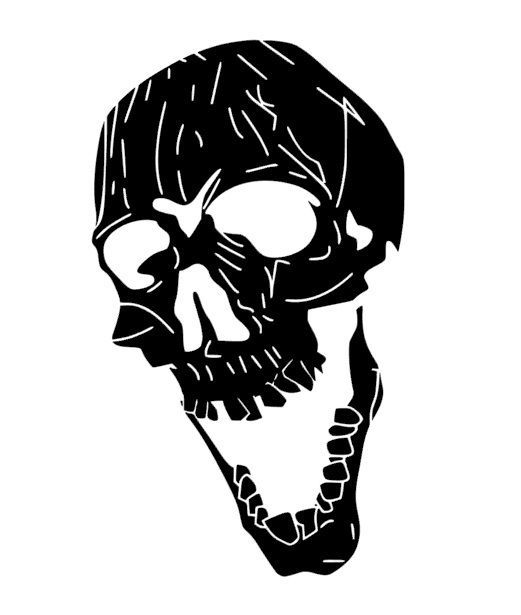 Screaming skull vinyl sticker decal