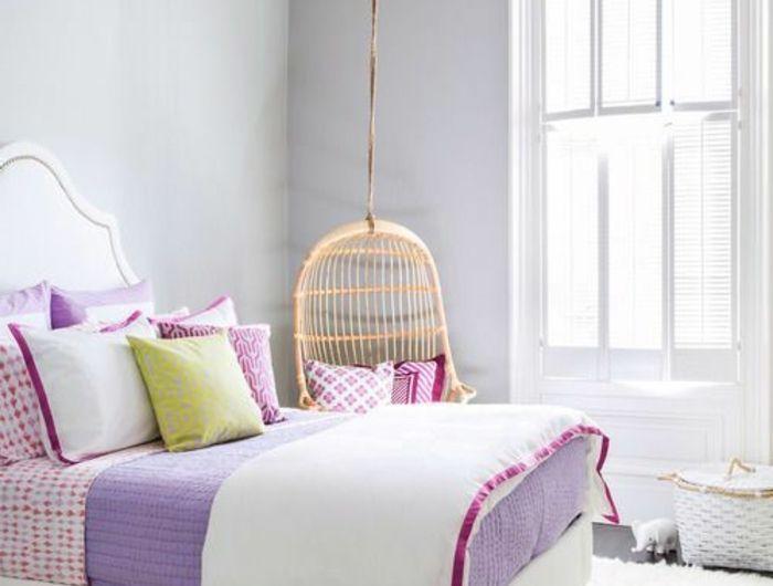 chambre-ado-fille-moderne-belle-violet-blanc-lustre-baroque ...