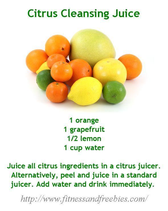 Citrus Cleansing Juice #recipe #detox