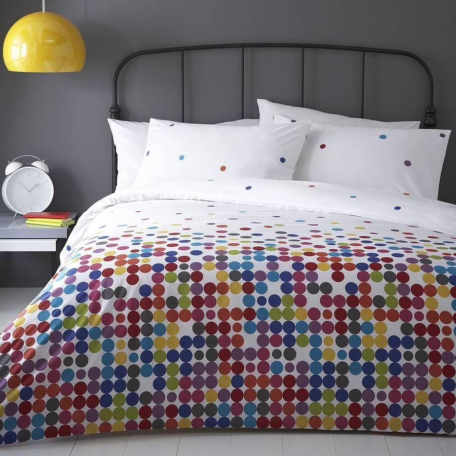 anime multi colour polka dot duvet cover set by marquis dawe polka. Black Bedroom Furniture Sets. Home Design Ideas