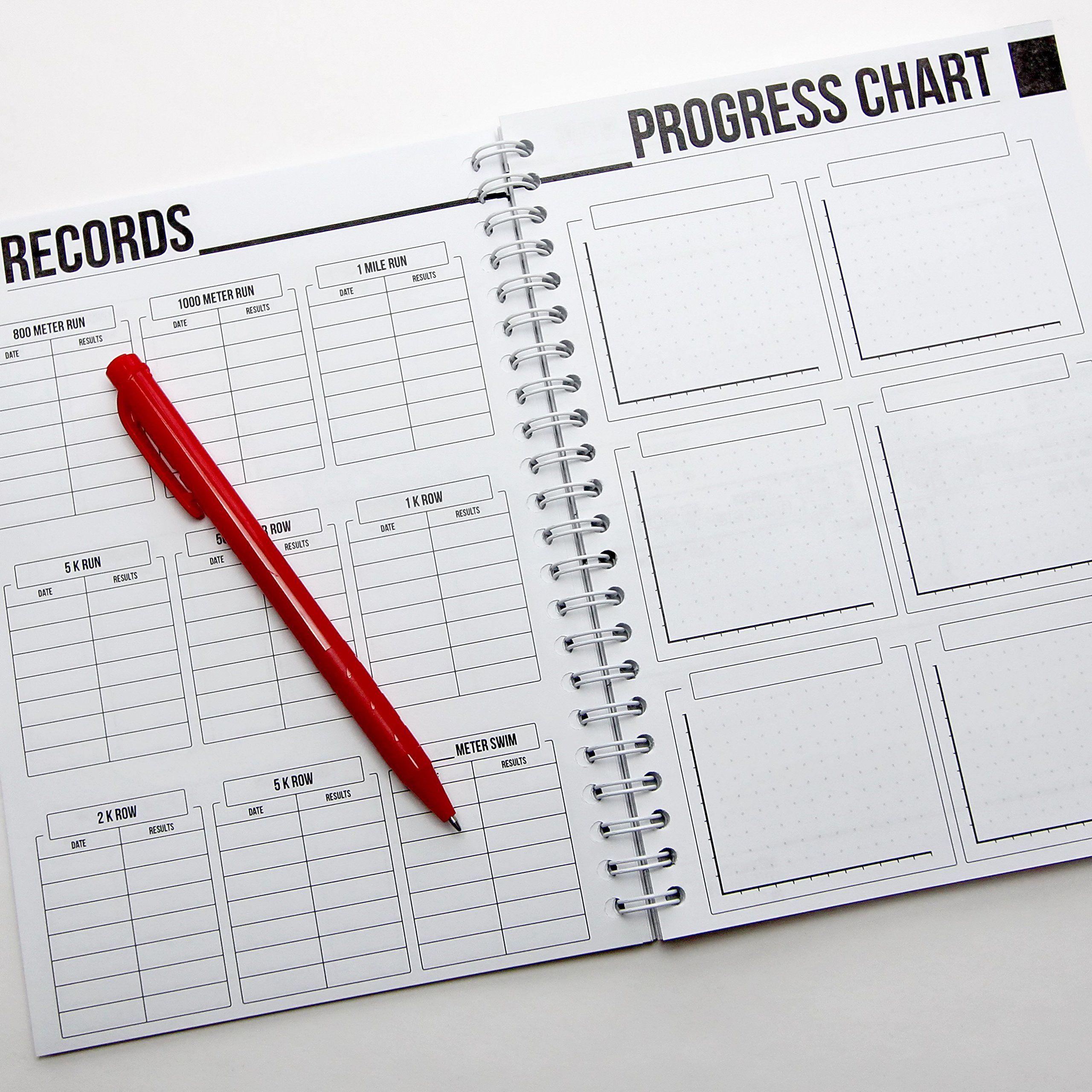 Wodbook Training Journal By Profit Crossfit Wod Log Book Workout Planner Cross Training Tracking Diary Crossfi Workout Log Book Fitness Planner Workout Log