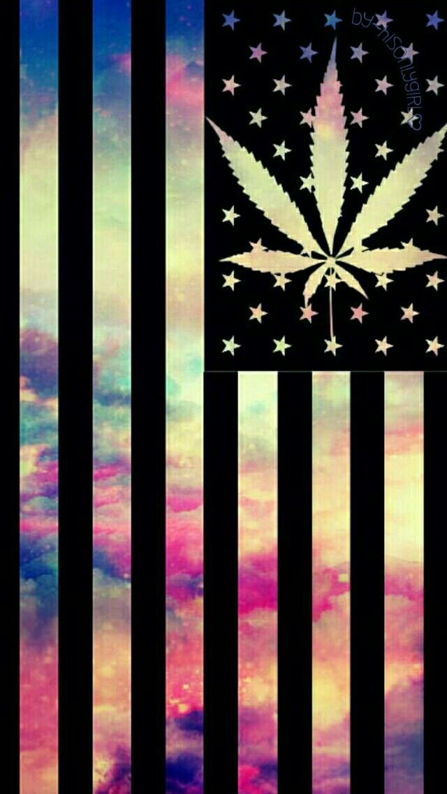 Weed Flag Galaxy Wallpaper I Created For The App CocoPPa
