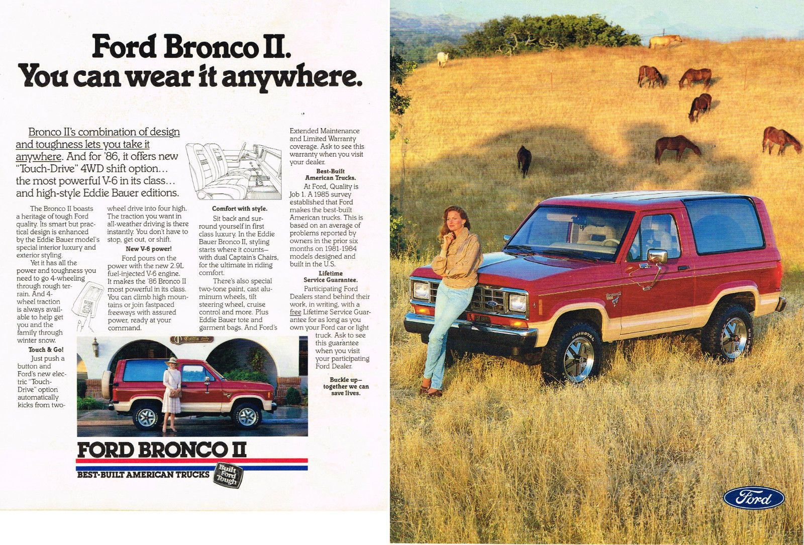 Vintage 1986 2 Page Magazine Ad For Ford Bronco Ii Vantage And Korbel Champagne Ford Bronco Ii Ford Bronco Bronco Ii