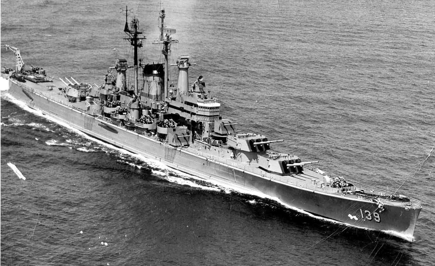USS Des Moines. | Trains | Uss salem, Heavy cruiser ...