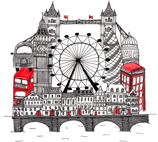 london illustration i made for my friends daughters london themed bedroom | london theme, london
